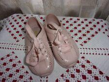 Mini Melissa Love sneaker tennis style light pink mauve shoes sz 7 Vguc