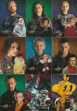 1998 LOST IN SPACE PRISMATIC COMPLETE TRADING CHASE CARD SET KM1-KM9