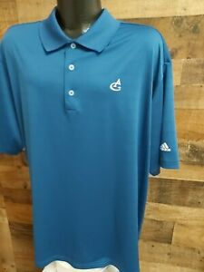 Adidas Climaliite Mens 2XL Blue White Short Sleeve Golf Polo Shirt
