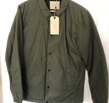 Selected Homme Padded Coach Jacket In Khaki Size Small