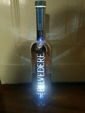 Belvedere Vodka LED Silver Sabre Chrom 1,75L Flasche leer deko Special Edition