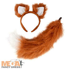 Kids Deluxe Fox Headband & Tail Fancy Dress Childrens Book Day Costume Accessory