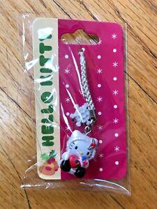 New Sanrio Stocking Hello Kitty Cell phone Charm Cellular White