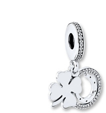 Pandora Sterling Silver Lucky Four-Leaf Clover Dangle Charm 792089CZ