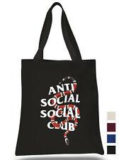 Anti Social Social Club Cotton Tote hand bag Coral Snake ECO canvas shoulder bag