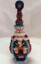 """Crinkle Bottle Claus 1998 Santa Possible Dreams """"Bottle Stopper"""" Head #659052"""