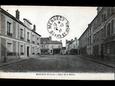 """MENNECY (91) COMMERCE """"CREMERIE LAITERIE LEROY"""" Place de la MAIRIE en 1921"""