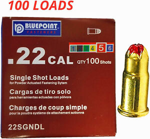 0.22 Caliber Single Shot Loads,Red, Strong,Power Level 5,Neck Down,100-Count