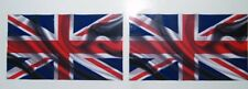 UNION JACK/FLAG Novelty Printed Vinyl Car/Van/Bumper/Window/Laptop Stickers x2