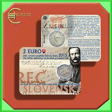 "2 Euro € Gedenkmünze Coins Coin Slowakei 2015 "" Ludovit Stur"" Coin Card"
