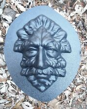 """Ornate plaster concrete abs plastic greenman face mold 10"""" x up to 1""""  thick"""
