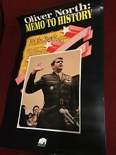 Oliver North: Memo to History Poster Rare - Iran-Contra Hearings Political Poste