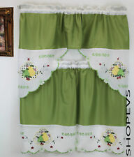 Pear Mix Kitchen Curtain with Swag and Tier Set 36 in