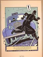 Jacobs. Blake et Mortimer. Sérigraphie. Marque Jaune. Police. 1990