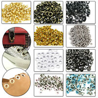 100pcs 2mm - 12mm Eyelets Grommets Brass Rust Proof Clothing Repair Sewing Craft