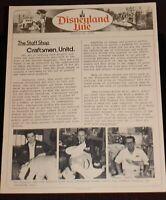 Disneyland Line backstage STAFF SHOP 1977 Photos Character Heads Disney Props