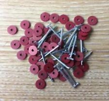 8mm Teddy Bear Cotter Pin Joints x 50 fibre board disks & 25 pins (for 5 bears)
