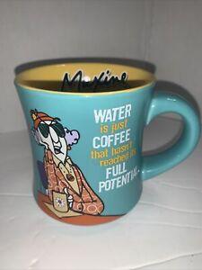 Maxine Attitude Coffee Mug Cup Hallmark Water is coffee... Blue And Yellow