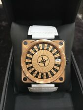 Bell & Ross 18K Rose Gold Stainless Steel Casino Watch BR-01-92 Limited Edition