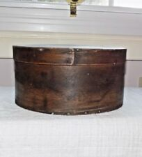 19th C Shaker BOLD BENTWOOD PANTRY BOX w/ FINE ORIGINAL CHESTNUT Patina 8 3/4""