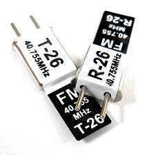 RC 40 MHZ 40.755 FM Crystal TX & RX Receiver 40MHZ Black Channel 26