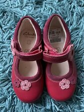 Clarks Pink Leather Girls Shoes Infant Size 6 New