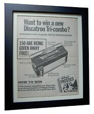 DISCATRON TRI COMBO+VINYL+POSTER+AD+RARE ORIGINAL 1969+FRAMED+FAST GLOBAL SHIP