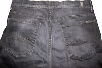 7 For All Mankind Black Faded RELAXED Jeans Sz 32