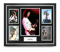 Brian May Signed Photo Large Framed Queen Display Autograph Memorabilia + COA
