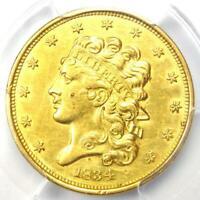 1834 Classic Gold Half Eagle $5 Coin - Certified PCGS AU Details - Rare!