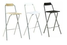 STRONG QUALITY FOLDING BREAKFAST BAR STOOL SQUARE SEAT CHAIR STOOL KITCHEN HOME