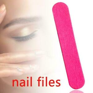 Double Sided Sandpaper Nail Files STRAIGHT Fine Grit Acrylics File HOT V2F3