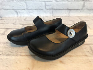 Alegria Paloma PAL-601 Womens Size -6.5 Black Leather Mary Jane Shoes 8y6