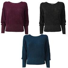 KORALLINE Women's Sweater United/Lurex Eternity Wide Long Sleeve Hem Below