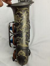 Eastern Music Professional matt black nickel plated Alto Saxophone w/engravings