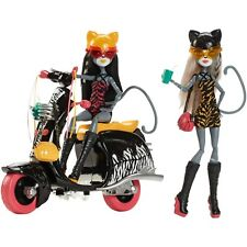 Monster High Puppen Meowlody Purrsephone Scooter Wheelin Werecats New In Box