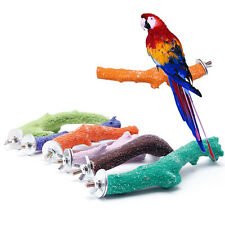Pet Parrot Raw Fork Stand Wood Toy Rack Hamster Tree Branch Perches Bird Cage