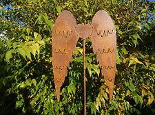 Gartenstecker Flügel Engelsflügel aus Metall, Rost, Gartendeko, 107 cm hoch