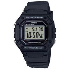 Casio W218H-1AV, Chronograph Watch, Black Resin Band, Alarm, Illuminator
