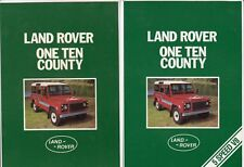 Two 1984 and 1985 LAND ROVER ONE TEN COUNTY Australian Brochures 110 5 SPEED V8