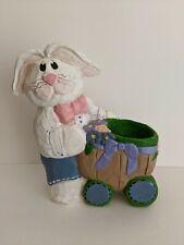 "Eddie Walker Bunny Pushing Cart 6"" Easter Spring"