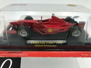 """Die Cast """" Ferrari F300 - 1998 Michael Schumacher + Box 1 """" Scale 1/43"""