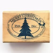 Stamp It Tree Post Christmas Wood Stamp Stamps, Craft, Cards, Gift Tags, Xmas