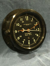 * Fully Restored* Wwii Us Navy 12/24hr. Chelsea Ship Clock Serial No. 464562