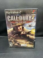 PLAYSTATION 2 PS2 CALL OF DUTY 2 BIG RED ONE COMPLETE GAME