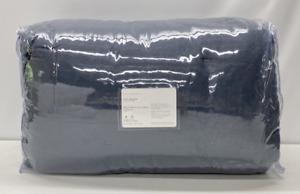 NEW Pottery Barn Belgian Flax Linen FULL/QUEEN Comforter Quilt~Steel Blue