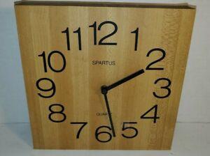Spartus Vintage Wall Clock Quartz Wood