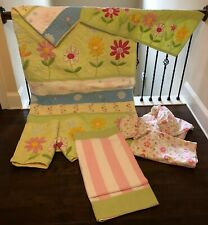 Pottery Barn Flower Quilt Full/Queen Bedding Set with Accessories
