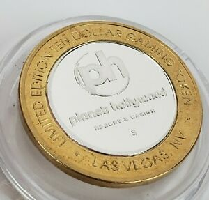 "Planet Hollywood Casino Las Vegas  ""S"" PH $10 Clad Strike limited Edition"