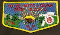MERGED YO-SE-MITE OA LODGE 278 342 64 BSA YOSEMITE AREA COUNCIL 1990 NOAC  FLAP